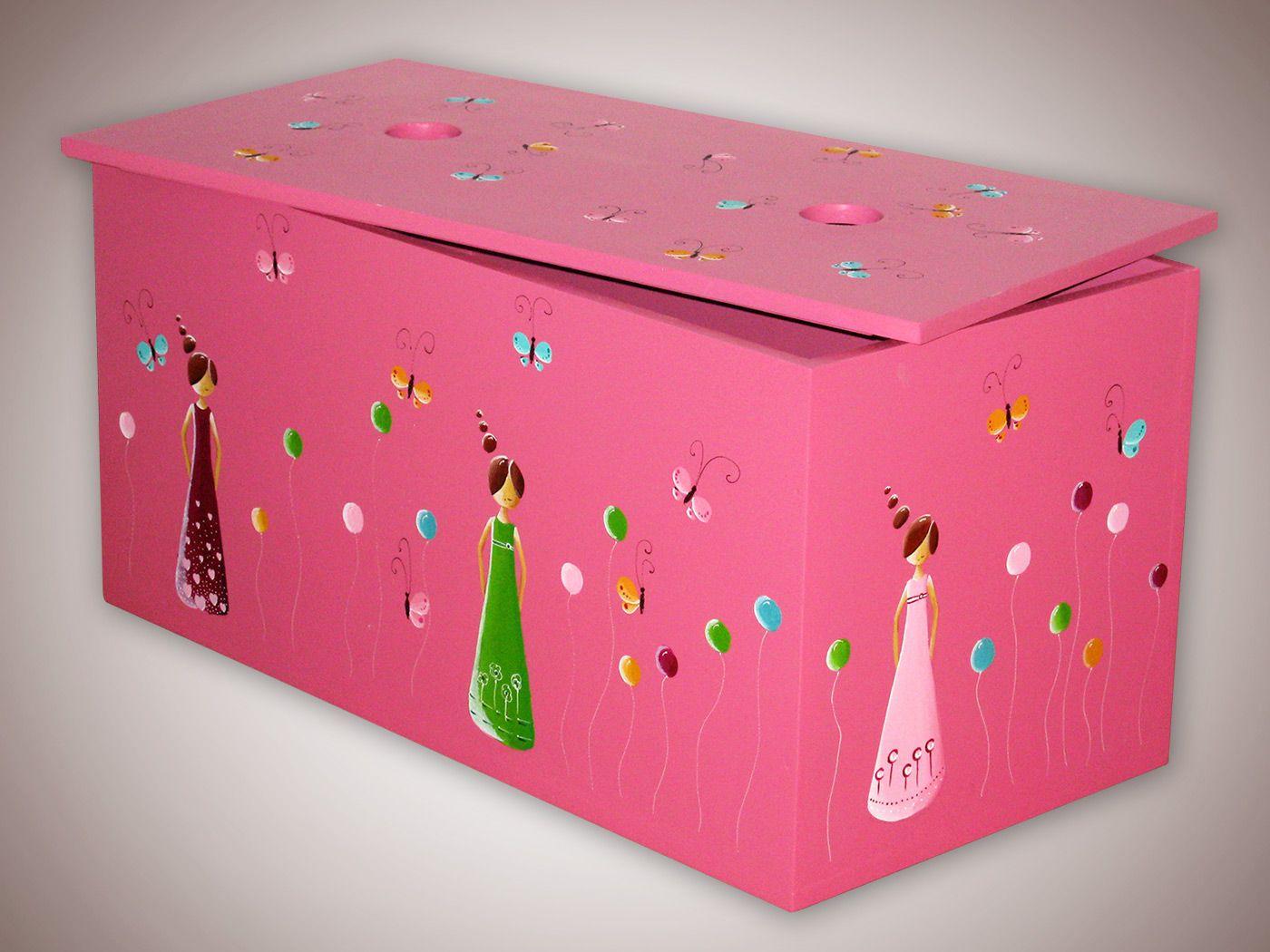 Lesena skrinja za igrače, Majin atelje