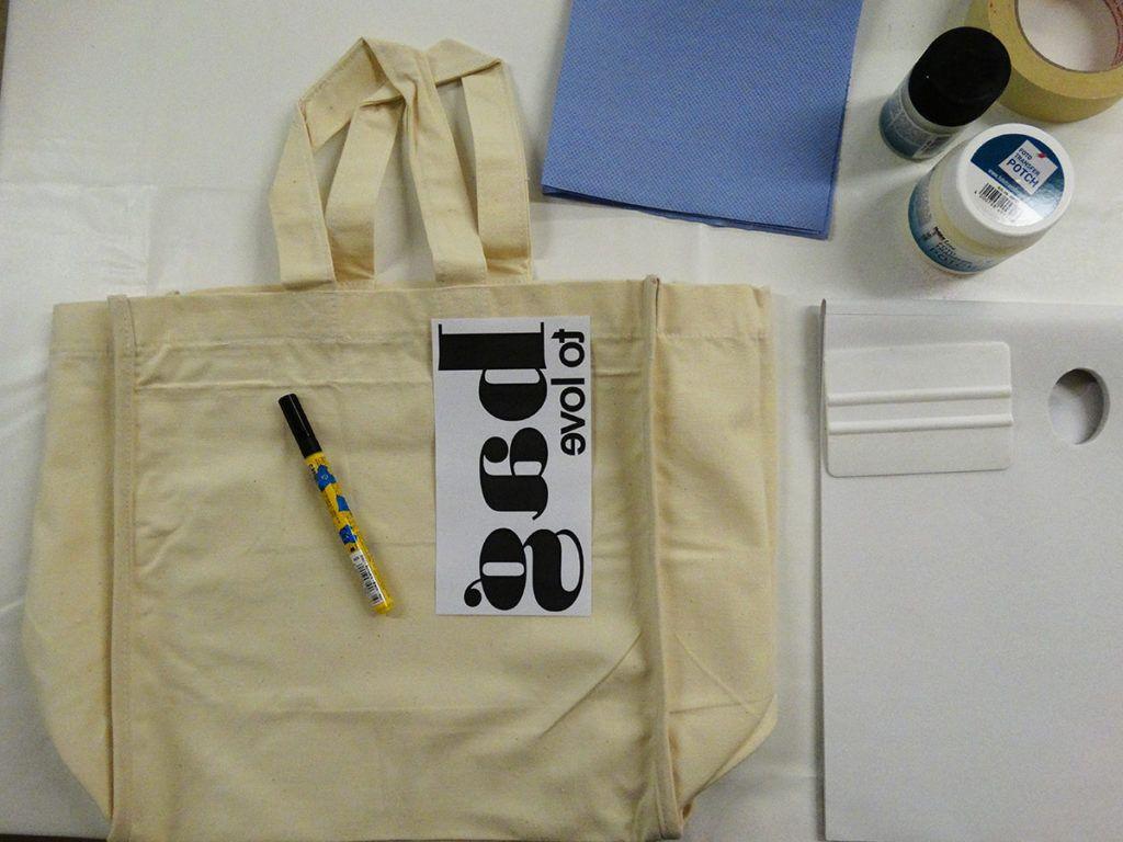 Nakupovalna torba iz blaga s preslikano fotografijo - potrebščine
