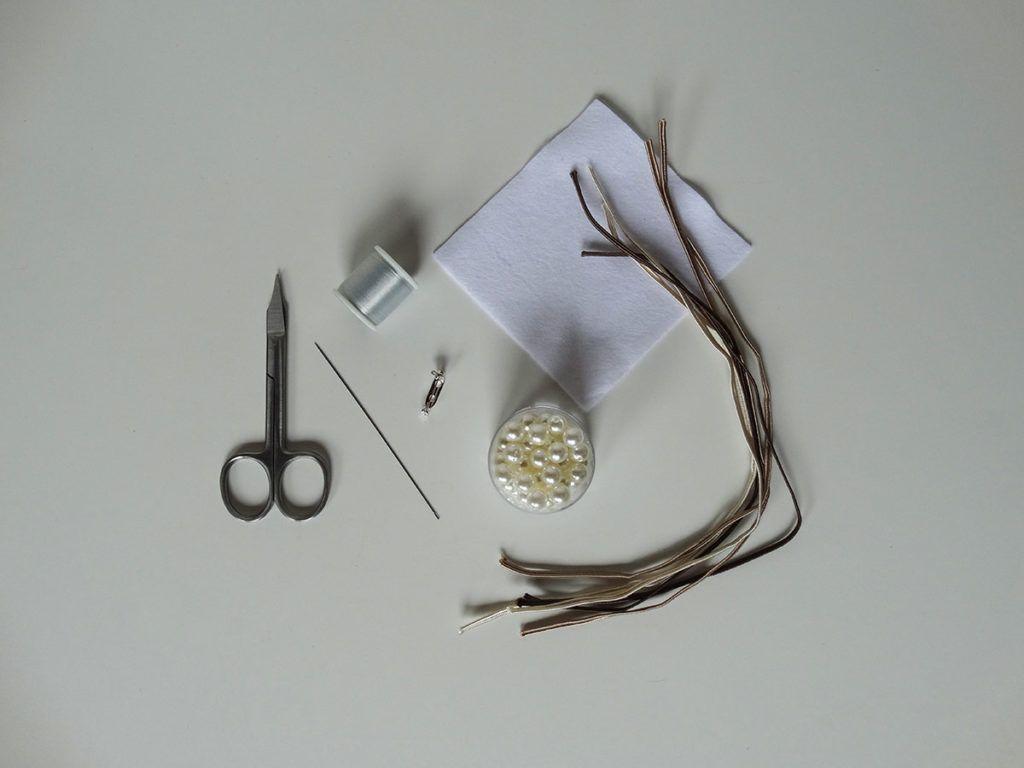 DIY: Broška v tehniki soutache - potrebščine