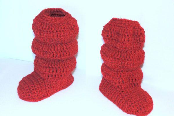 DIY: Kvačkani copati v obliki škornjev