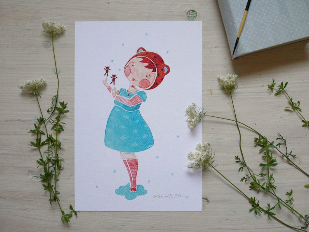 Akvarelne ilustracije v tiskani obliki