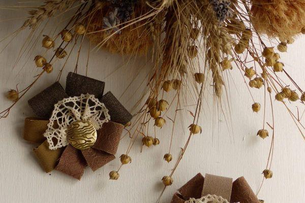 DIY: Jesenska broška iz tekstila