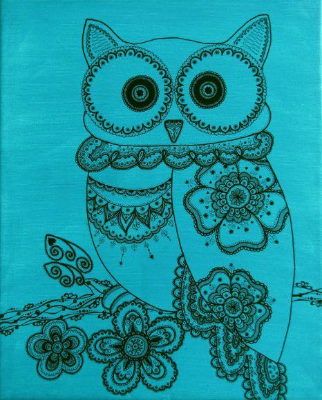Mojca Baloh: Ustvarja umetnine na platnu z akrilnimi barvami in tuši