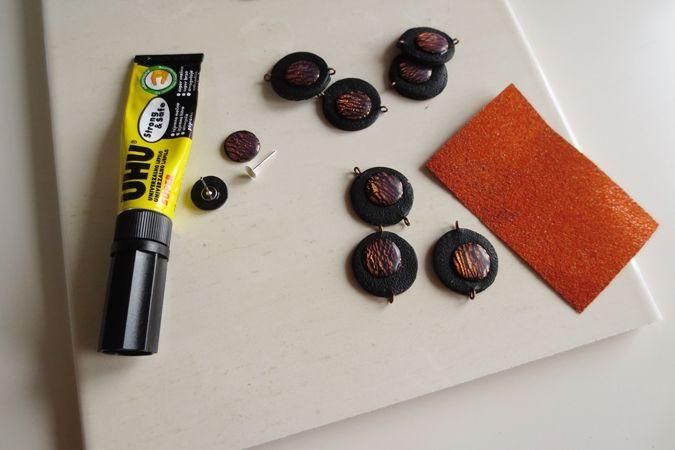 DIY: Ogrlica iz polimerne mase in lističev za pozlato