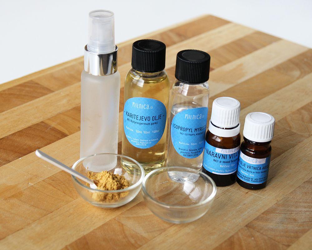 DIY: Suho olje za telo s svetlikajočim se zlatim učinkom – potrebščine