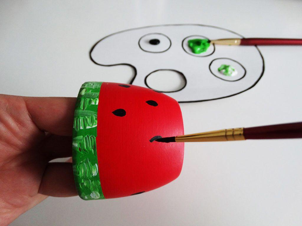 DIY: Cvetlični lonček 'lubenica'