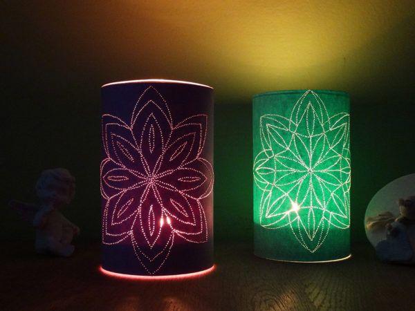 Preživite romantične večere ob pogledu na svečnik z mandalo, ki ga lahko izdelate sami. Sprostite se med risanjem mandale, ob luknjanju pa preverite lastno potrpežljivost.