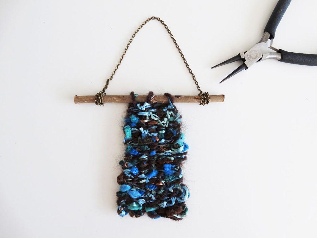 DIY: Ročno tkana okrasna tapiserija