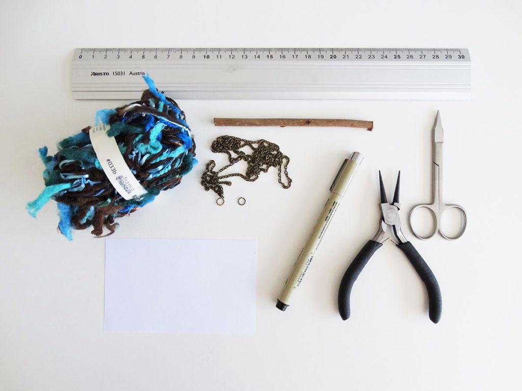 DIY: Ročno tkana okrasna tapiserija – potrebščine