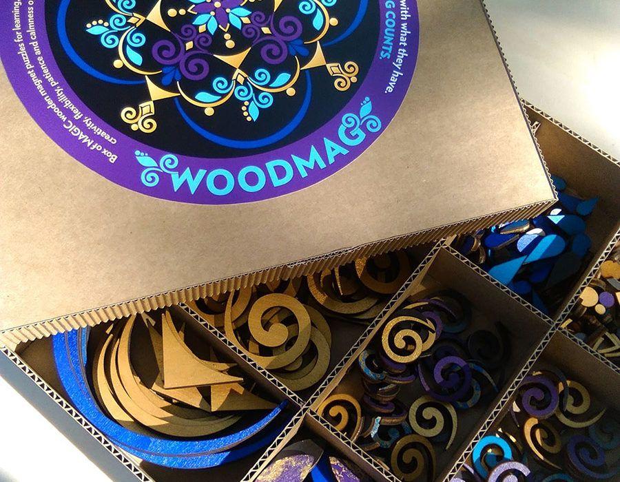 Lesena sestavljanka za ustvarjanje mandal