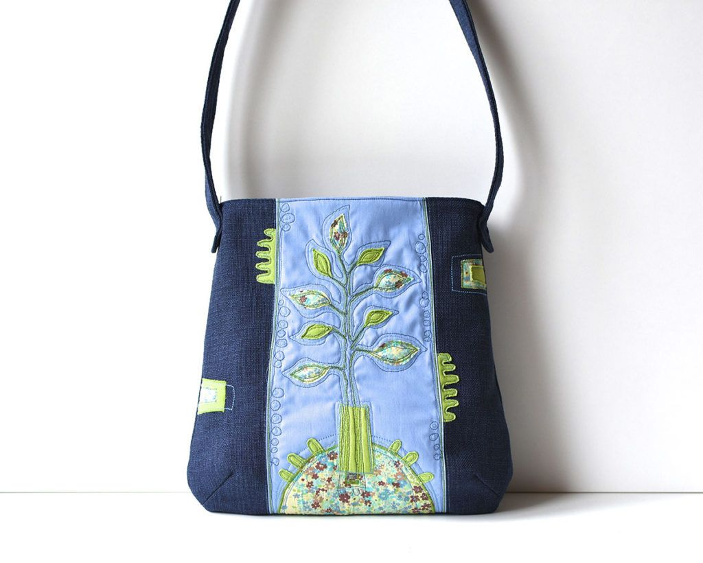 Polona Gržinič: Prostoročno risanje s šivi po torbicah