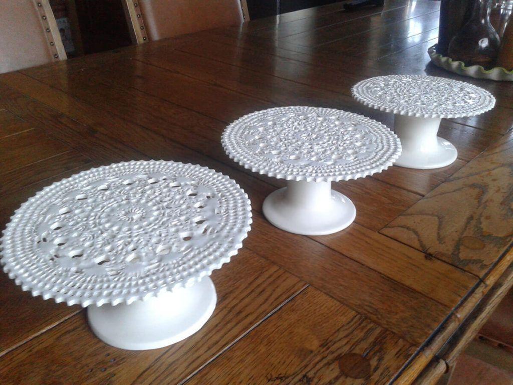 Čipka na keramiki