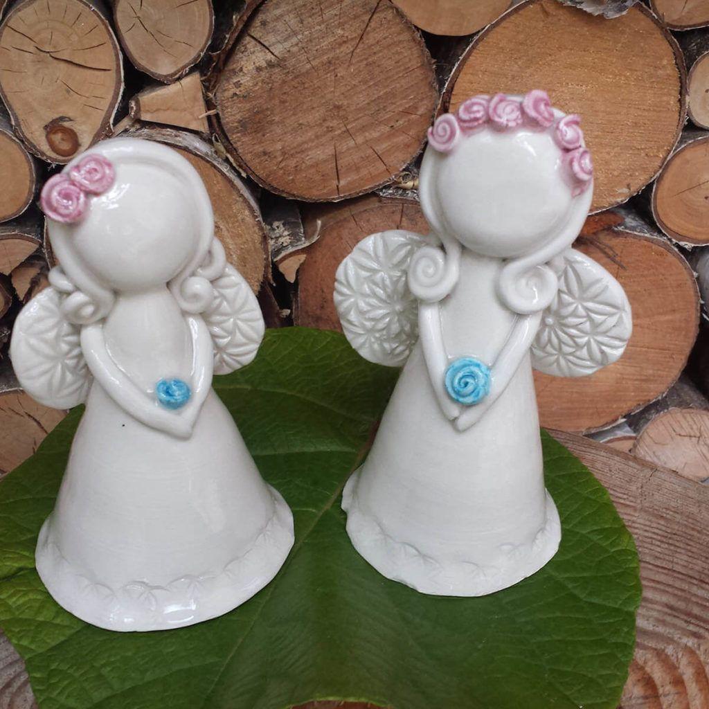 Keramični okrasni angeli