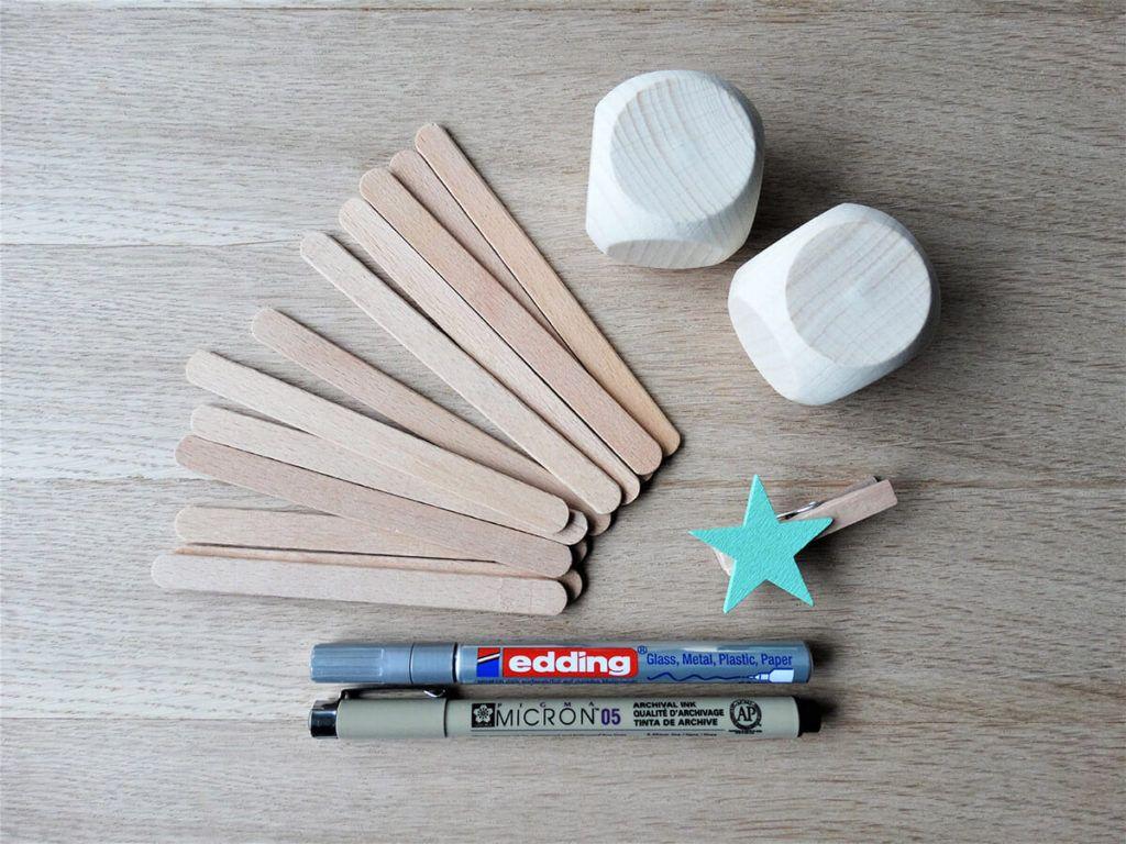 DIY: Namizni koledar iz kock