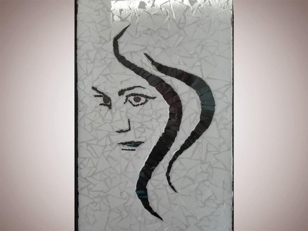 Skrivnosten obraz v tehniki mozaika, Simona Auguštin