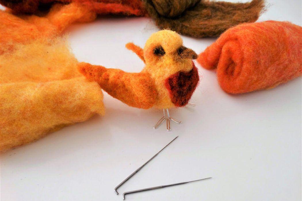 DIY: Ptiček v tehniki suhega polstenja