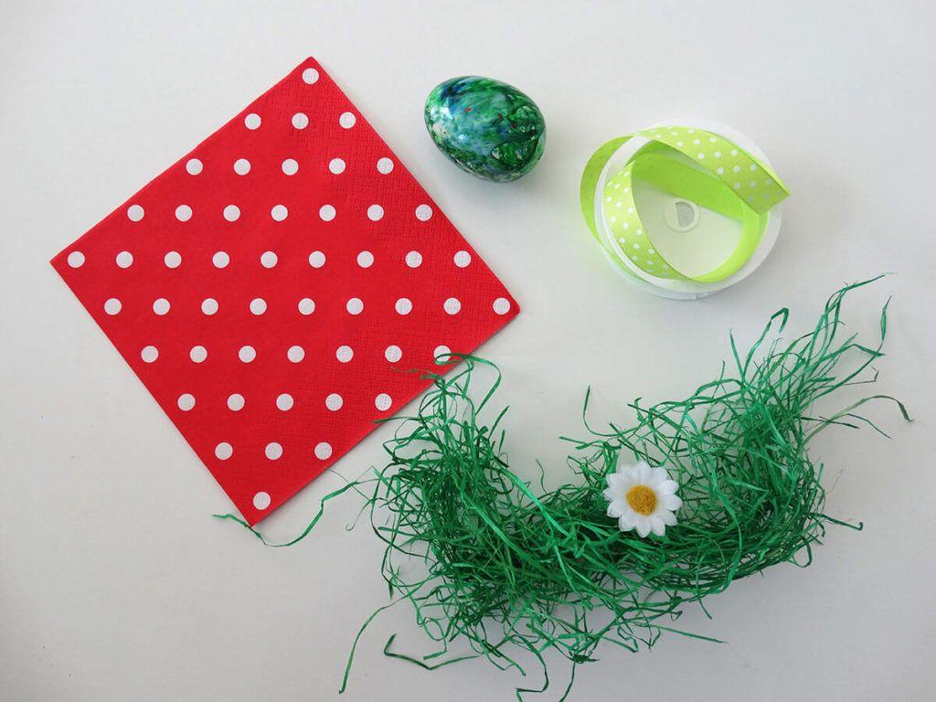 DIY: Velikonočni pogrinjek s pirhom – potrebščine